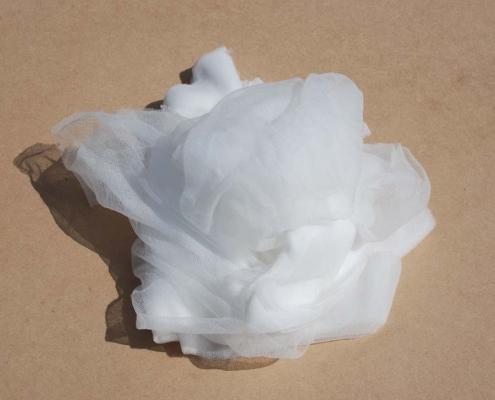 Pezzame nylon bianco multicolor