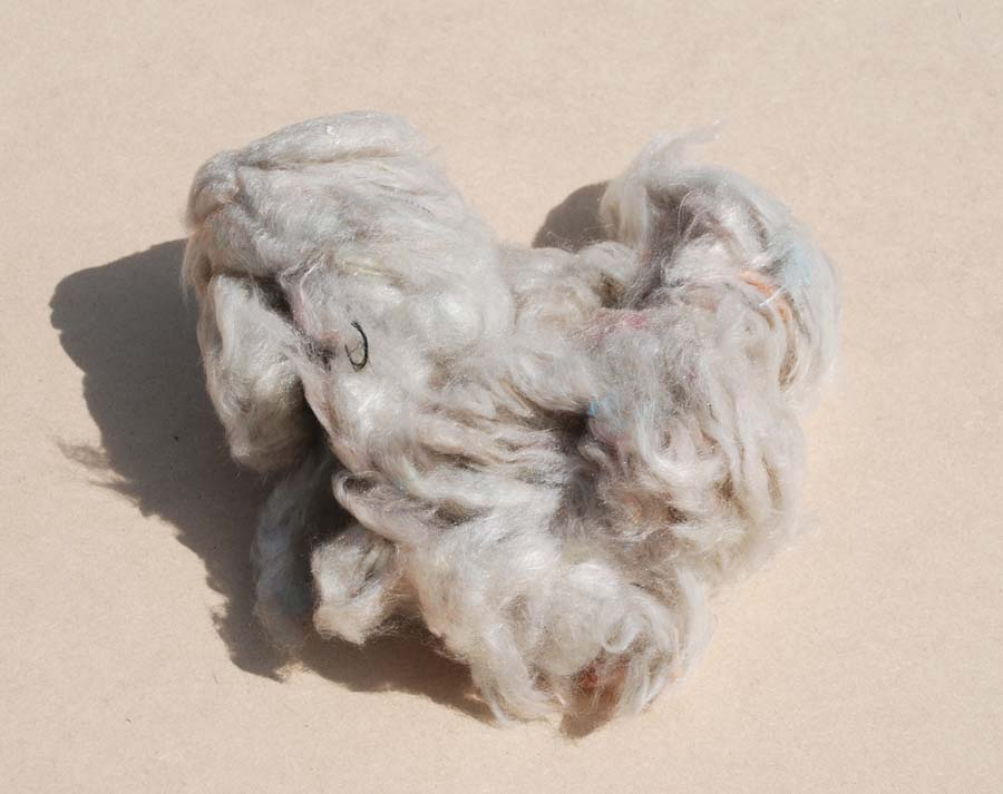 multi-colored polyester frayed